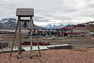 Bell tower in Longyearbyen, Norway