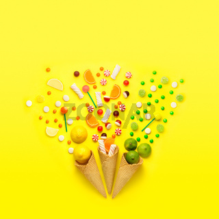 Candy fireworks.