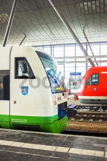 Nahverkehrszüge im Erfurter Hauptbahnhof