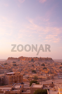 Jaisalmer Fort View Cityscape Morning Sunrise