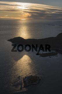Abendstimmung ueber dem Atlantik, Vestvagoey, Lofoten