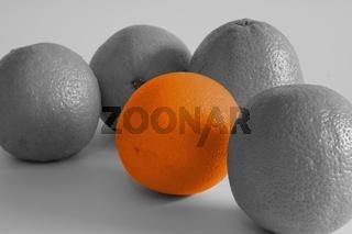 orangen kontrast