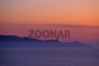 Abendstimmung am Meer, Toskana, Maremma, sunset at the see, tuscany, maremma