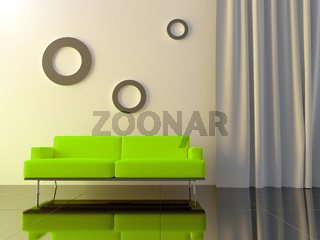 Interior - Green couch