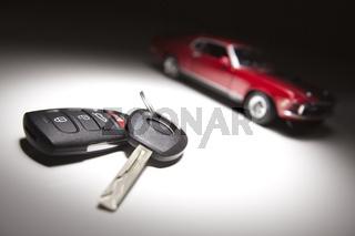 Car Keys and Sports Car
