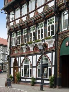 Reich verziertes Fachwerkhaus in Einbeck (Tangobruecke Haus der Veranstaltungen