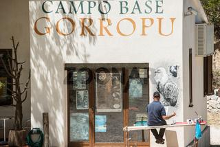 Naturschutzzentrum der Schlucht Gola su Gorropu an der Passstraße Genna Silana, Sardinien