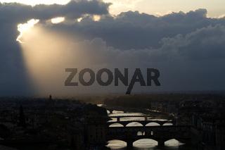 Abend, Florenz, Toskana, Italien