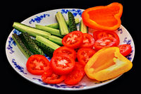 Dish with vegetables.