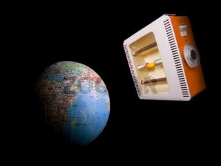 globe and quartz lamp