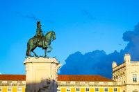 questrian statue of King José in Lisbon (Portugal)