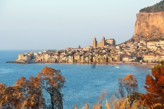 Cefalu, old harbor town on the island of Sicily