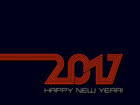 Happy new year 2017  background in blue and orange