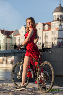 woman on bike