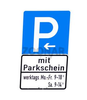 Parkenplatzschild