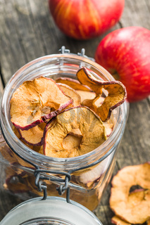 Tasty dried apple slices.