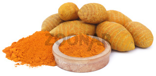 Whole and ground turmeric
