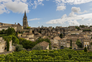 View on Centre and Church Wine District Saint-Emilion
