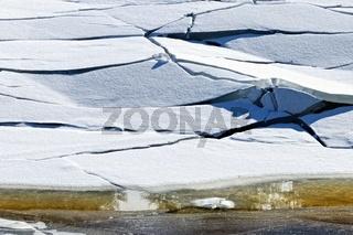 aufgebrochene Eisdecke