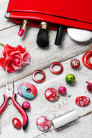 Contents of the bag craftswomen