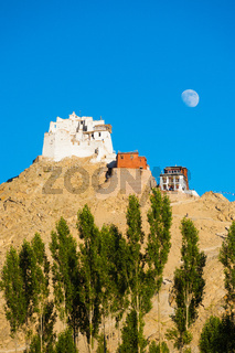 Leh Tsemo Castle Gompa Moonrise Mountaintop V