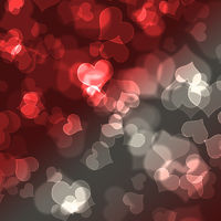 card for design with blur bokeh effect