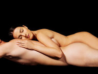 Closeup of undressed sensual couple