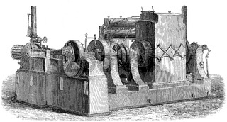 Generator by Thomas Alva Edison, 1847-1931, an American inventor and businessman