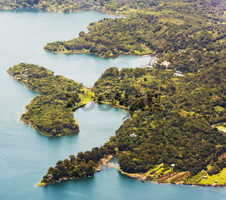 Lake Atitlan Shoreline Town