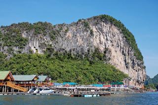 islamisches Fischerdorf, Ko Panyi, Phang Nga, Thailand / Ko Panyi, Muslim fishing village, Phang Nga, Thailand, Southeast Asia