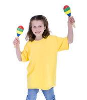 School Girl playing maracas