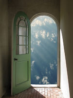 Arched Doorway to Blue Sky