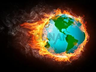 Globe in Flame