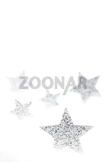 silberne Weihnachtssterne / silver chrismas stars