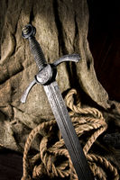 smart sword of the knight of the middle ages