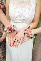 Bride with bridemaids