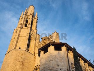 Basilika Sant Feliu in Girona, Katalonien, Spanien