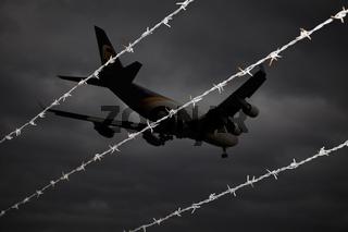 Plane landing at Cologne Bonn Airport
