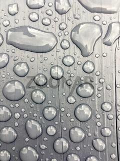 rain water on grey background