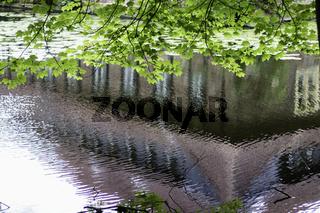 Spiegelung, Wasserschloss Senden, Münsterland, NRW