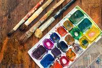Brush and paint