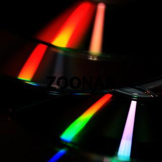 Licht Reflexion auf einer CD
