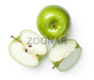 Granny Smith Apples on White
