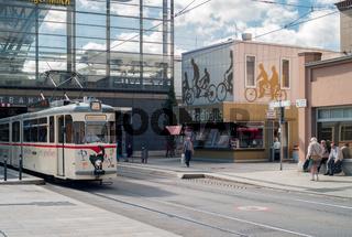 Nostalgische Strassenbahn in Erfurt