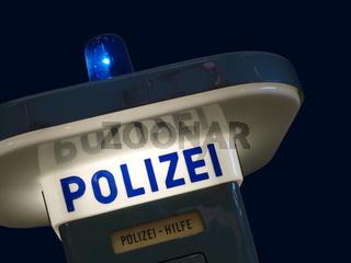 Notrufsäule der Polizei