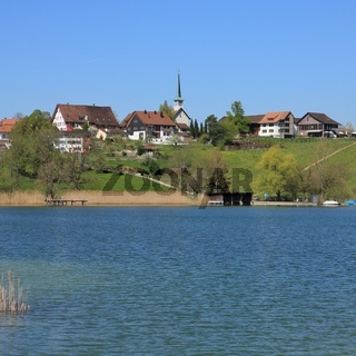 Village Seegraben in spring