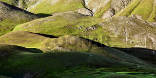 Green hills near Castelluccio of Norcia, Italy