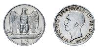 five 5 Lire Silver Coin 1928 acquilino Vittorio Emanuele III Kingdom of Italy