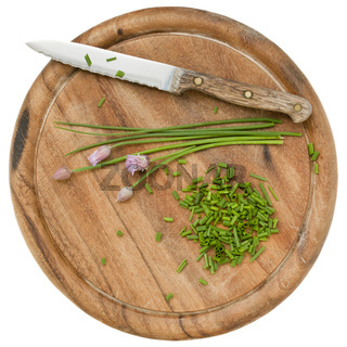 green chives chopped