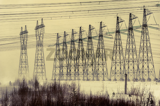 Hight voltage power transmission tower